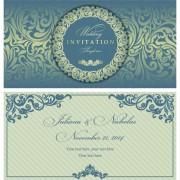 Link toElegant invitations vintage style design vector 06
