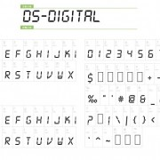 Led digital fonts