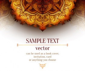 Luxury floral book cover design vector 03