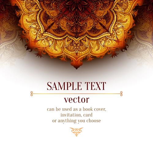 Vintage Book Cover Design Vector Free Download : Luxury floral book cover design vector