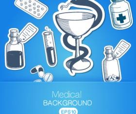 Creative medical elements background vector grahpics 01