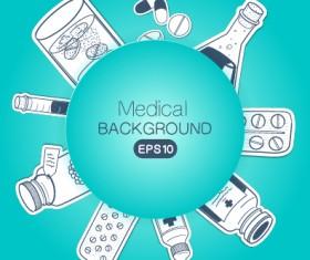 Creative medical elements background vector grahpics 02
