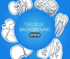 Creative medical elements background vector grahpics 03