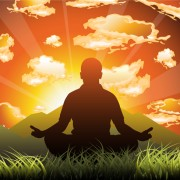 Meditation design elements vector graphics 02