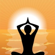 Meditation design elements vector graphics 03