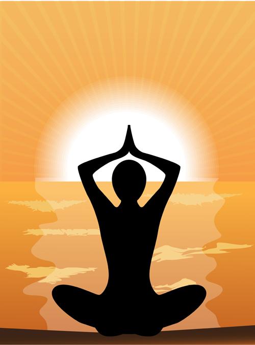 Meditation design elements vector graphics 03