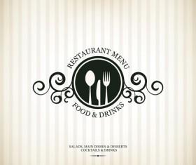 Modern restaurant menu design graphic set 01