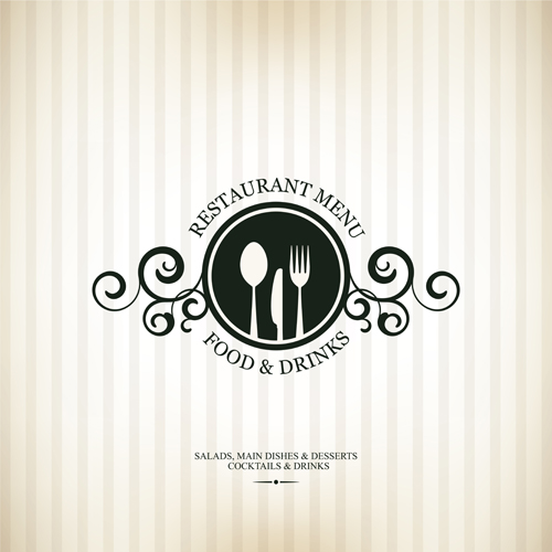 Modern restaurant menu design graphic set vector