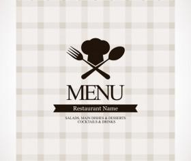 Modern restaurant menu design graphic set 05