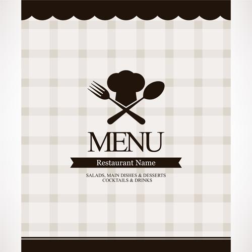 Modern restaurant menu design graphic set vector