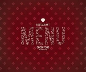 Modern restaurant menu design graphic set 07