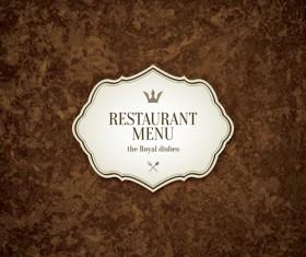 Modern restaurant menu design graphic set 08