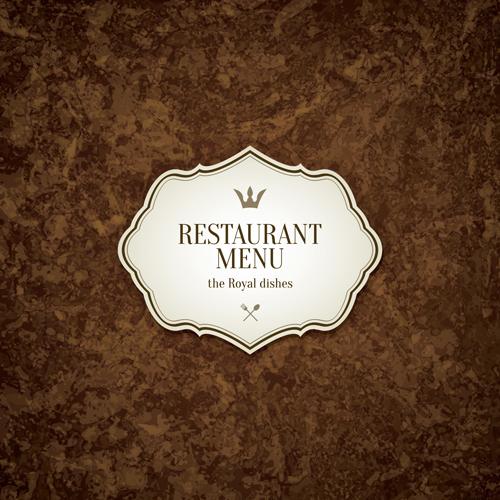 Golden Retro Restaurant Logo Set: Modern Restaurant Menu Design Graphic Set 08