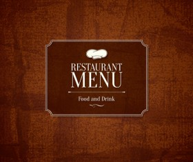 Modern restaurant menu design graphic set 09