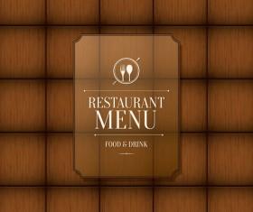 Modern restaurant menu design graphic set 10