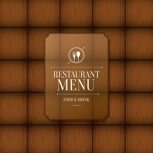 Modern restaurant menu design graphic set free download