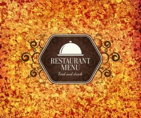Modern restaurant menu design graphic set 11