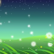 Link toMoon and dandelions beautiful landscapes vector