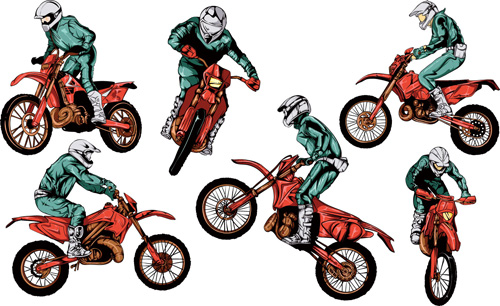 Motorcycle vintage design vector graphics 01
