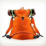 Link toOrange travel backpack vector