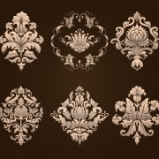 Link toOrnamental floral damask elements vector material 03