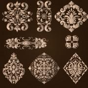 Link toOrnamental floral damask elements vector material 05