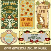 Link toOrnate vintage labels creative vector set 05