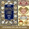 Ornate vintage labels creative vector set 06
