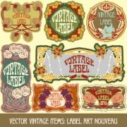 Link toOrnate vintage labels creative vector set 08