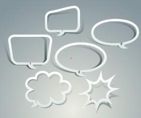 Outline speech bubble design vector
