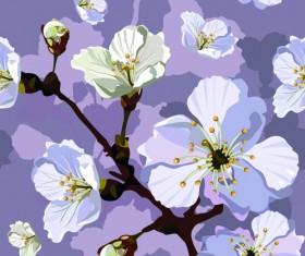 Peach blossom seamless pattern vector