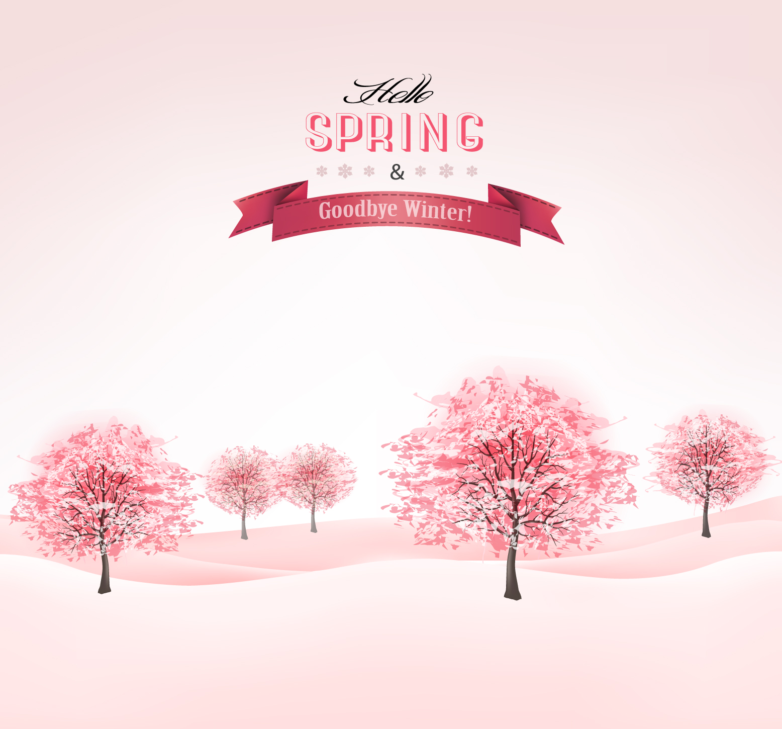 pink spring trees wallpaper - photo #42