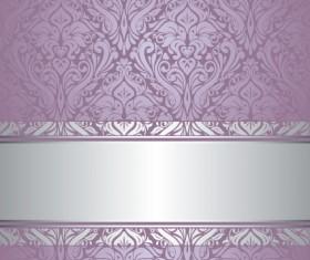 Purple floral ornament pattern backgrounds vector 01
