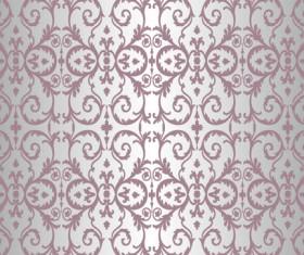 Purple floral ornament pattern backgrounds vector 02