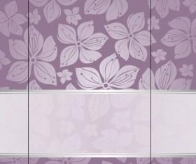 Purple floral ornament pattern backgrounds vector 03