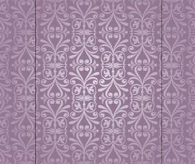 Purple floral ornament pattern backgrounds vector 04