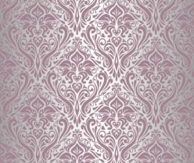 Purple floral ornament pattern backgrounds vector 05