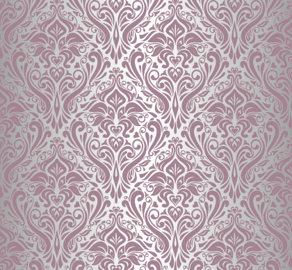 Purple Floral Ornament Pattern Backgrounds Vector 05