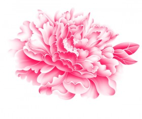 Realistic pink flower psd graphics