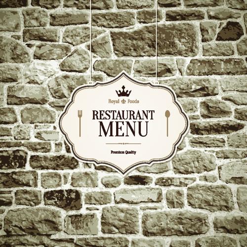 restaurant royal food menu cover vector 02