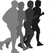 Running man design vector silhouettes graphics