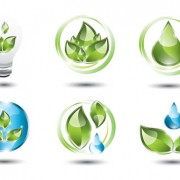 Link toShiny ecology logos vector material