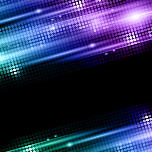 Shiny Neon Disco Party Background Vector 03 Vector