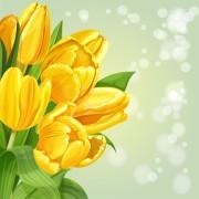 Link toShiny yellow tulips vector background art