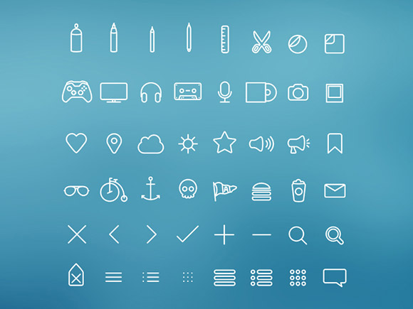 Icon Psd Free Download Simple Outline Icons Psd