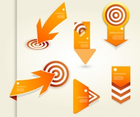 Target and arrows creative vector