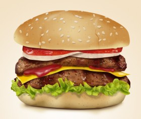 Tasty hamburger creative psd graphics