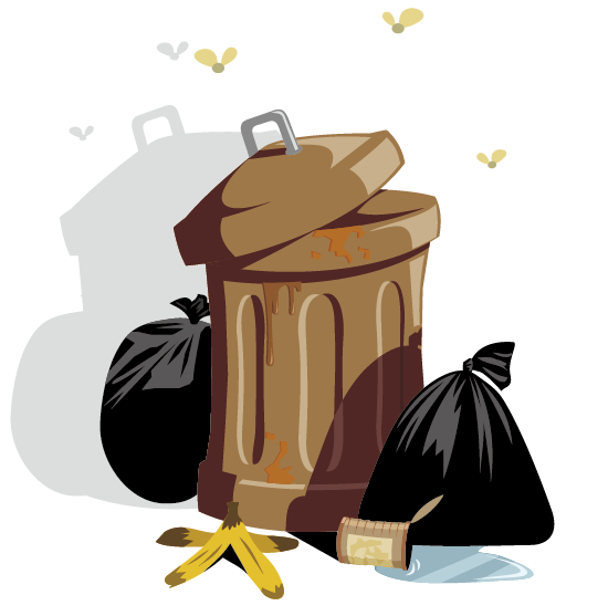 Trash and garbage bags design vector - Vector Life free ...