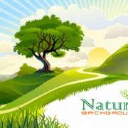 Link toTree and natural scenery vector background 05
