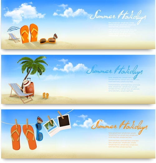Tropical Vacation Creative Banner Vector Free Download